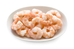 King prawns  on white Stock Image