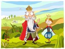 King and prince. Illustration King and prince , vector EPS AI Stock Image