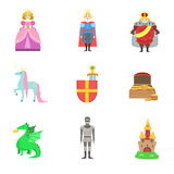 King, Prince and Princess And Related To Them Objects Royalty Free Stock Image