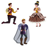 King, a prince, and a princess. Vector Illustration of a king, a prince, and a princess royalty free illustration