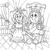 King and princess Stock Image