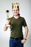 King with prize Royalty Free Stock Photo