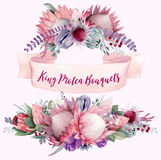 King Protea Bouquets Vol 1 Royalty Free Stock Images