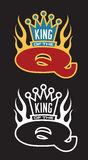 King of the Q Barbecue emblem Royalty Free Stock Images