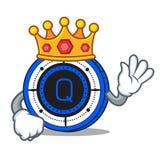 King Qash coin mascot cartoon. Vector illustration Stock Photography