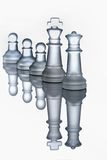 King and queen. With three pawns Stock Photo