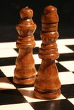 King and Queen. Chess royalty free stock images