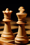 King and Queen. Image shows a white chess King and Queen stock images