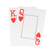 King and queen cards Royalty Free Stock Photos