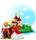 King and queen at the castle Royalty Free Stock Photography