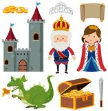 King and queen at the castle. Illustration stock illustration