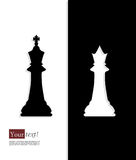 King queen chess Stock Images