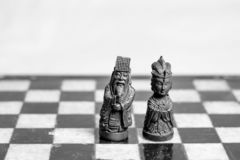 Chess game, close up. royalty free stock image