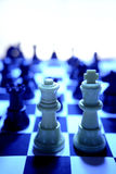 King and Queen chess pieces Stock Images