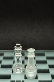 A king and queen chess pieces Stock Image