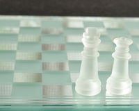 A king and queen chess pieces Royalty Free Stock Photography