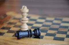 King and queen. On the chessboard Stock Photography