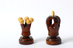 King & Queen of the chessboard Royalty Free Stock Photos
