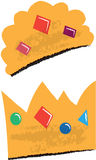 King and Queen Crowns Children's Illustrations Stock Photo
