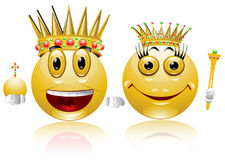 King queen glossy smile icon Stock Photography