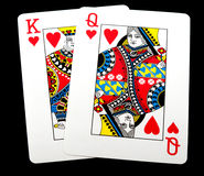King Queen of hearts Stock Photo