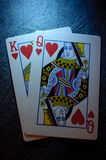King and queen of hearts Royalty Free Stock Images