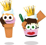 King and queen ice cream Royalty Free Stock Photo