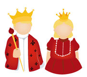 King and Queen Icon Royalty Free Stock Images