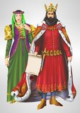 King and Queen Illustration Royalty Free Stock Images