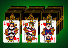 King Queen Jack card set Royalty Free Stock Photography