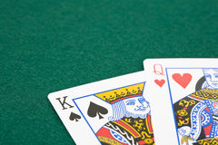 King and queen playing cards Royalty Free Stock Images