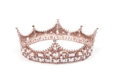 A King or Queens Crown. A King or Queen`s Rose Gold Crown stock photos