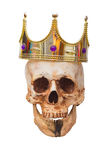 King or Queen skull with crown. Halloween concept Stock Photo