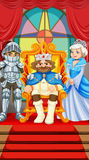 King and queen at the throne Royalty Free Stock Photos