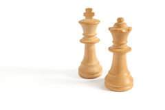 King and Queen from white set (chess) Stock Photo