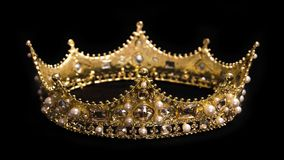 A King or Queens Crown. A King or Queen`s Golden Crown stock photo