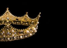 A King or Queens Crown. A King or Queen`s Golden Crown stock image