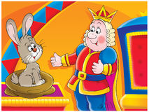 King and rabbit Stock Photography