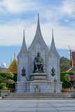 King Rama I Monument of Thailand Stock Photo