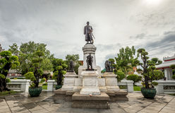 King Rama II Statue in The Temple of Dawn Stock Images
