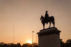 King Rama V Equestrian Monument. Stock Photos