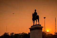 King Rama V Equestrian Monument. Stock Photo