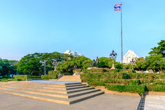 King Rama V Monument in Chulalongkorn University Stock Photo
