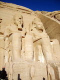 KING RAMSES II IN ABU SIMBEL TEMPLE Royalty Free Stock Images