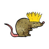 king rat cartoon Stock Photo