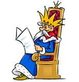 King reading the newspaper Royalty Free Stock Images
