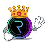 King request network coin mascot cartoon. Vector illustration Royalty Free Stock Image