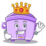 King rice cooker character cartoon. Vector illustration Royalty Free Stock Photography