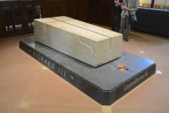 KIng Richard Third tomb. Buried in Leicester Cathedral, UK Royalty Free Stock Photo