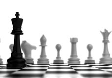 King and rivals. (computer generated image Royalty Free Stock Photo